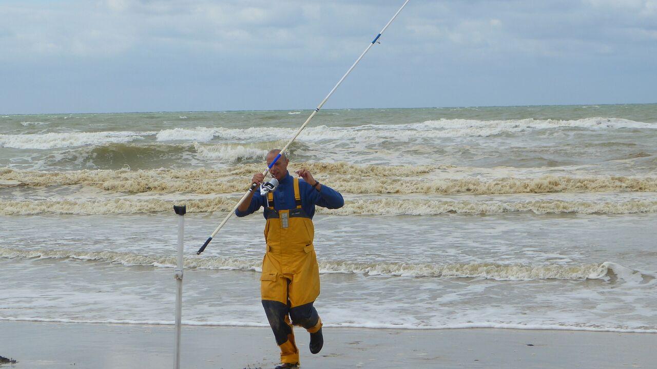 Stéphane 8ém du classement général toute catégorie en action de pêche CHPT
